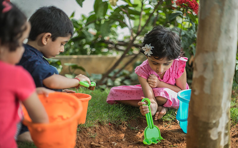 Garden making-preschool in mg road