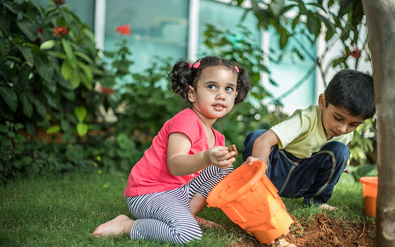 Garden making-Preschool in bangalore