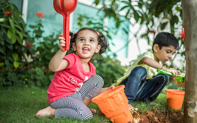 Garden making-nursery schools in bangalore