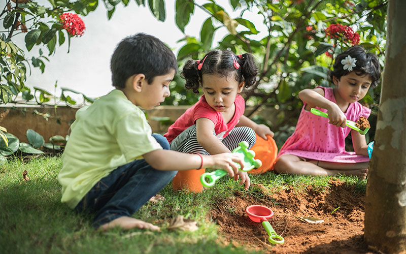 Garden making-Play school in richmond town