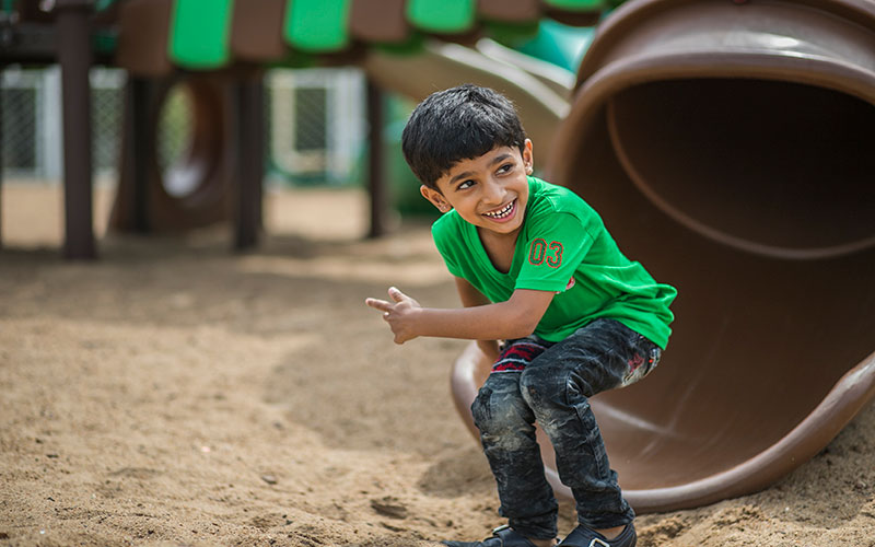play outdoors safty-preschool in residency road